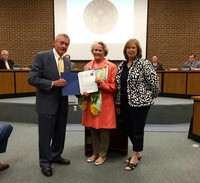 Becky and Sue receiving Proclamation for Garden Club of Virginia Day Oct 15th